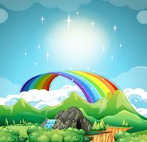 Arcobaleno sopra le montagne
