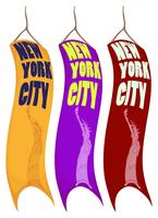 Fahnendesign für New York City vektor