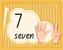 Nummer zeven handbewegingen sjabloon
