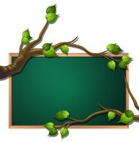 Tree leaf blank blackboard banner