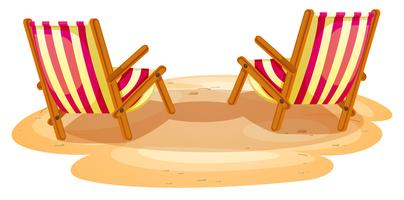 Dos sillas de playa