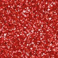 Seamless bright red glitter texture. Shimmer hearts love background.