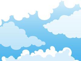 Diseño de fondo con nubes en el cielo azul