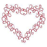 Vector uitstekend hart op een witte achtergrond