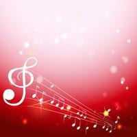 Design de plano de fundo com notas musicais em escamas brancas
