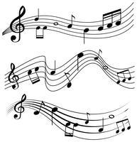 Design sem costura com notas musicais