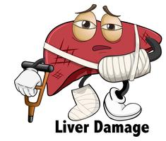 An isolated of liver damage
