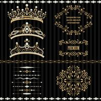 Set collections of royal design elements
