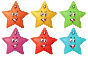 Smiling stars vector