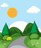 A flat nature landscape vector