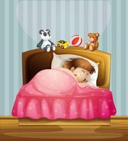Uma menina dormindo