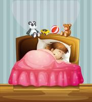 Una niña dormida