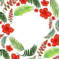 Beautiful Tropical Summer Flower Template