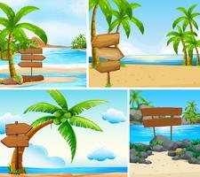 Vier Szenen von Meer und See