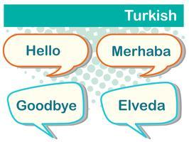 Sprechblasen mit türkischen Wörtern