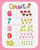 Math counting number worksheet