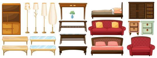 Different furnitures