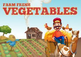 Thème de légumes frais de la ferme