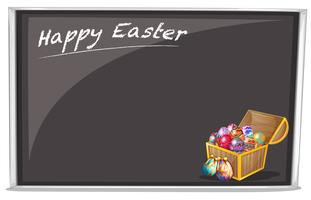 A board with a Happy Easter Greeting