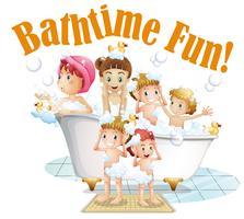 Leute, die ein Bad nehmen