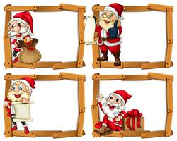 Wooden frame templates with Santa