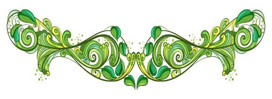 Una cornice dal design verde