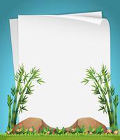 Ontwerp van het papier met bamboe in de tuin