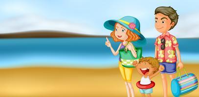 Eine Familie im Urlaub