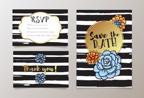 bodas, guardar la fecha de invitación, RSVP y gracias