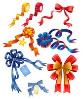 Different designs of ribbons