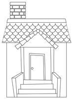 Um esboço de casa simples