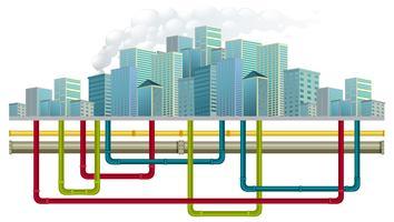 Sistema di tubature dell'acqua sotterranee