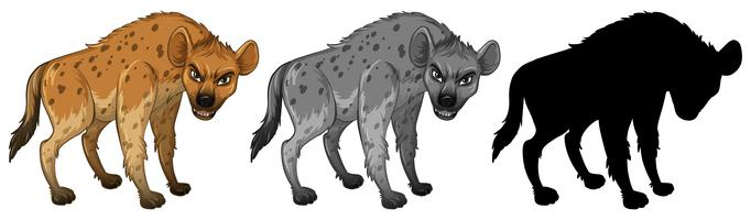 Set of hyena character