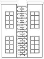 A simple house outline