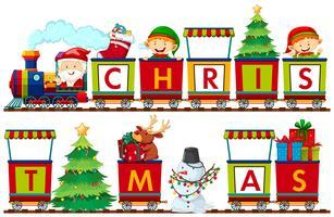 Eine Reihe von Weihnachtselementen
