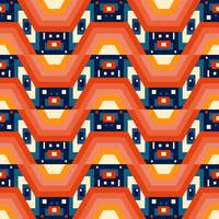 Retro different seamless patterns tiling.