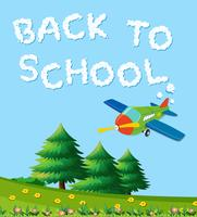 Volver a la plantilla de la naturaleza de la escuela