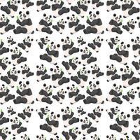 Nahtlose niedliche Panda-Tapete