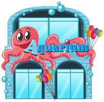 Ein Aquarium auf weißem Hintergrund