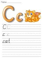 Série de caligrafia do alfabeto