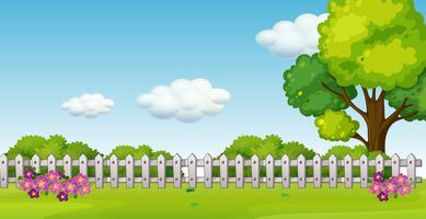 A beautiful garden landscape vector