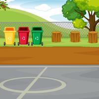 Um fundo de quintal de esporte