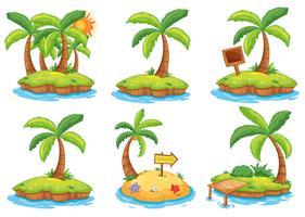 Islas con diferentes signos.