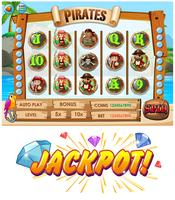 Game template with pirate crew characters