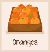 Naranjas en la caja para la venta