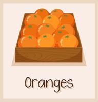 Orangen in der Box zu verkaufen