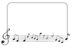 Modelo de fronteira com notas musicais