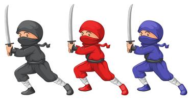 Three ninjas vector
