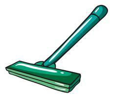 Un trapeador verde