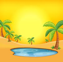 Orange hot desert background